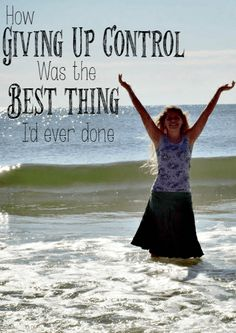 The crazy thing about life is that sometimes, the opposite of what you think is true. For instance, giving up control of the biggest decisions in life can actually end up to be the best thing that ever happened.