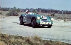 Lance Macklin and Archie Scott-Brown drove this Austin-Healey 100S at Sebring 1956. The car was a DNF due to a bad starter.