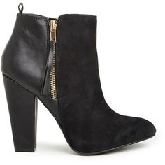 Steve Madden Jannyce Booties ($150) ❤ liked on Polyvore featuring shoes, boots, ankle booties, ankle boots, black, booties, oversized cardigan, short black boots, black ankle bootie and knit boots