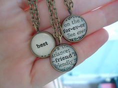 Three Best Friends Necklace Set by TheSlippedStitch on Etsy