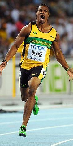 Yohan Blake of Jamaica Roger Federer, Lebron James, Yohan Blake, Air Max 2009, Air Max Classic, Nike Air Max 2011, Nike Spandex, Nike Flyknit Racer, Nike Quotes
