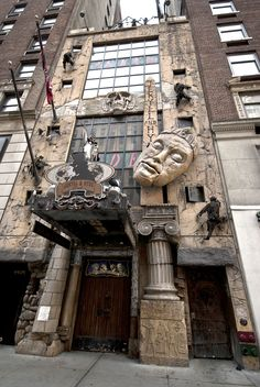 the Jekyll & Hyde Club restaurant in New York City. It's like eating inside a haunted house!