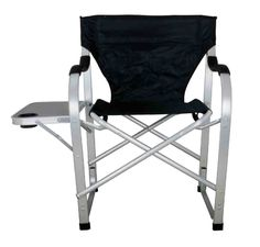 Incroyable Stylish Camping Black Heavy Duty Folding Camping Director Chair With