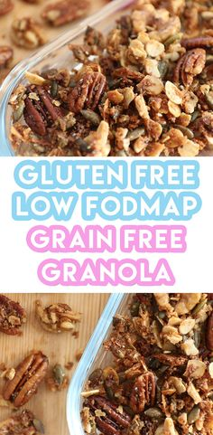 If you are looking for a breakfast option that is gluten free, dairy free and low FODMAP look no further than my delicious grain free granola.