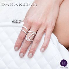 A simple and elegant pair of rings that are a great way to add subtle sparkle to an outfit.