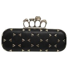 Buy your knuckle leather clutch bag ALEXANDER MCQUEEN on Vestiaire  Collective eb8d7e362a1fc