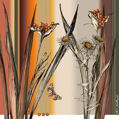 Planet Sam: Colours of the month - November [April/May in Southern Hemisphere] Plant Illustration, Botanical Illustration, Painting Inspiration, Color Inspiration, Copic, November Colors, Plant Sketches, Botanical Drawings, Botanical Art