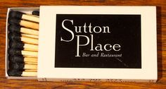 Sutton Place NYC BX3a 18 stick #matchbox - To order your business' own branded #matchbooks or #matchboxes GoTo: www.GetMatches.com or CALL 800.605.7331 Today!