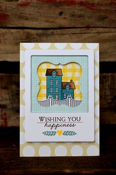 Wishing You Happiness Card by Jess Witty for Papertrey Ink (March 2013)