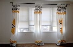 Budget Living Decor Idea: 10 DIY Painted Curtain Projects
