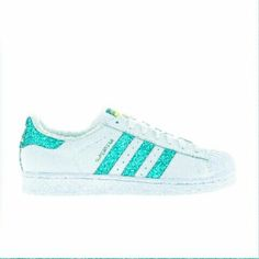 Adidas superstar blue glitter