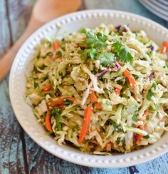 Toss coleslaw in a soy sauce and wasabi marinade for one spicy, crunchy salad.
