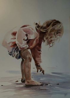 Art Watercolor, Watercolor Painting Techniques, Painting Process, Watercolor Portraits, Painting & Drawing, Human Figure Drawing, Portrait Art, Figurative Art, Painting Inspiration