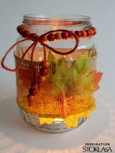 Podzimní dekorace | STOKLASA textilní galanterie Autumn Crafts, Autumn Art, Thanksgiving Diy, Thanksgiving Decorations, Girl Scouts, Fall Halloween, Fun Projects, Mason Jars, Crafts For Kids