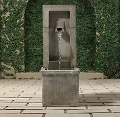 Fountains & Birdbaths | Restoration Hardware.  I live in the city so we need a little bit of #whitenoise to feel like we're in the country #relaxing