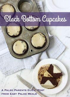 Black Bottom Cupcakes Feature. Paleo Parents Guest Post: Black Bottom Cupcakes, Easy Paleo Meals