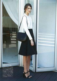 Black-and-white office attire