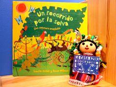 """""""Un Recorrido por la Selva""""by Laurie Krebs and Anne Wilson. Beautiful Bilingual libros that celebrate our cultura"""