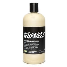 Veganese conditioner by LUSH. Handmade, vegan, and Eco-friendly. I won't ever buy any other hair products