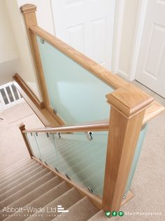 Abbott-Wade's clamped glass staircase balustrades offer a range of options & are the perfect option for both new flights and our staircase renovations.