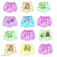 Innerwear Modern Elegant Kid's Innerwear(Pack of 12) Fabric: Cotton Size: Age Group (0 Months - 6 Months) - 12 in Age Group (6 Months - 9 Months) - 12 in Age Group (9 Months - 12 Months) - 14 in Age Group (1 - 2 Years) - 18 in Age Group (2 - 3 Years) - 20 in Age Group (3 - 4 Years) - 22 in Age Group (4 - 5 Years) - 24 in Description: It Has 12 Pieces of Kids  Bloomer  Work: Printed Country of Origin: India Sizes Available: 0-3 Months, 0-6 Months, 3-6 Months, 6-9 Months, 6-12 Months, 9-12 Months, 12-18 Months, 18-24 Months, 0-1 Years, 1-2 Years, 2-3 Years, 3-4 Years, 4-5 Years, 5-6 Years, 6-7 Years, 7-8 Years, 8-9 Years, 9-10 Years, 10-11 Years, 11-12 Years   Catalog Rating: ★3.9 (399)  Catalog Name: Modern Elegant Kid's Innerwear Vol 8 CatalogID_519924 C59-SC1187 Code: 723-3720353-387