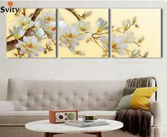 Cheap decorative painting folk art, Buy Quality painting home decor directly from China decorative room painting Suppliers: 3 Panel Modern White Orchid Flower Painting On Canvas Pictures For Living Room Wall Art Cuadros Flowers Modular Wall Paintings 3d Canvas Art, 3 Piece Canvas Art, Flower Painting Canvas, Flower Paintings, 3d Wall Art, Modern Wall Art, Framed Wall Art, Wall Art Prints, Art 3d