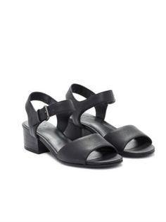 Francis Block Heel Sandal in Tumbled Leather-EF44772