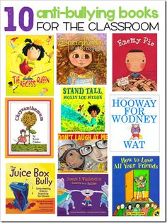 Anti-Bullying Books for the Classroom ~ Free compilation with a bit of info about each book. need these books # Anti-Bullying Book list Books About Bullying, Classroom Behavior, Classroom Ideas, Classroom Management, Behavior Management, Bullying Prevention, Mentor Texts, Character Education, Teaching