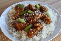 General Tso's Chicken Recipe:  a main-course meal,      including vegies, meat and starch.