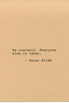Oscar Wilde Quote Made on Typewriter Quote by FlightOfFancyPrints