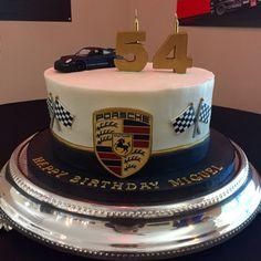 Porsche theme buttercream cake birthday cake www.simplydulcekakes.com
