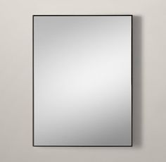 RH's Custom Metal Mirror Floating:Sleek metal frames have clean finishes and minimalist details for a modern, go-anywhere sensibility.