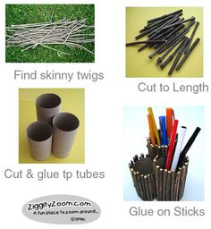 12. A craft idea inspired by nature. Not only are you recycling tp rolls, you are also giving dead twigs new life in the home. Nothing like bringing the outdoors in!   #ByNature.ca #Pin2Inspire