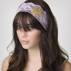 The white lace headbands would be perfect for a wedding up-do