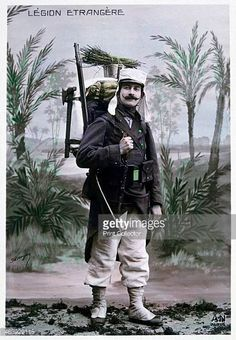 French Foreign legionnaire c1900 French postcard