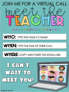 Meet The Teacher, Letter To Teacher, Letter To Parents, Learning Resources, Teacher Resources, Teacher Freebies, Back To School Night, Middle School, Online Classroom