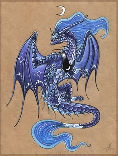 Princess Luna dragon by =AlviaAlcedo on deviantART