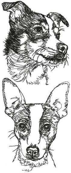 Advanced Embroidery Designs - Rat Terrier Set