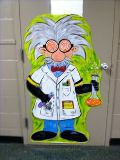 Mad scientist  - school/science lab door. Have to have this guy for our Children's Room!