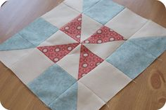 pinwheel sampler quilt along: block one by rachelgriffith, via Flickr