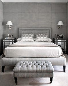 How To Create Traditional Chic Bedroom Decor Master Bedroom Design, Home Bedroom, Bedroom Furniture, Bedroom Decor, Bedroom Ideas, Master Bedrooms, Bedroom Ottoman, Serene Bedroom, Bedroom Neutral