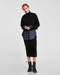 ZARA - WOMAN - PLUSH SKIRT