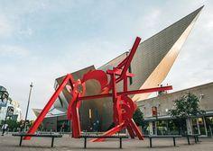 """Lao Tzu,"" by Mark di Suvero, in front of the Denver Art Museum."