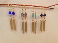 Art Deco Drop Earrings by elladolce on Etsy, $20.00