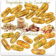 Propiedades de los #Cacahuetes - Club Salud Natural