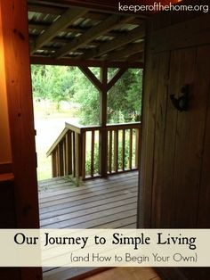 Begin a Journey to Simple Living - KeeperoftheHome.org