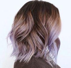Light Brown & Violet Hair