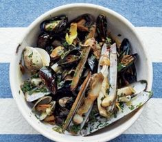 Grilled Mussels and Clams With Chili-Lemon Oil: Here's an easy way to try making mussels and clams at home—plus, it only takes 20 minutes.