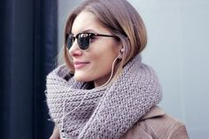 twist on an oversize, knit scarf for fall