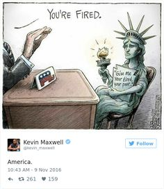 11 Cartoonists From All Around The World Illustrate How They Feel About Trump Becoming President